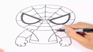 draw spiderman easy step step drawing