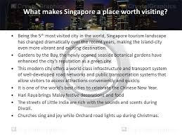 singapore at its best tourism is at its rapid expanding stage
