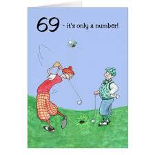 69th birthday card 69th birthday card for a golfer zazzle