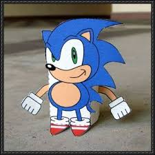 Sonic The Hedgehog Papercraft - ssbb cube sonic the hedgehog free paper