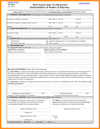 Complete Power Of Attorney Form by 7 Power Of Attorney Form Wv Action Plan Template