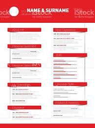 Resume Vector Minimalist Cv Resume Template With Simple Design Vector Stock