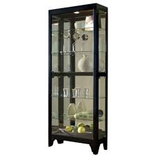 small curio cabinet with glass doors curio cabinet glass curiots display large optimizing home decor