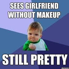 No Makeup Meme - sees girlfriend without makeup weknowmemes