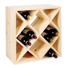 furniture u0026 organization cube natural wooden wine racks for wine