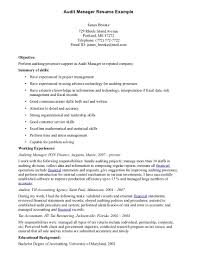 Salon Manager Resume Examples by Free Printable Audit Manager Resume Sample Displaying Simple