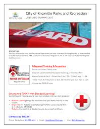 lifeguard training city of knoxville