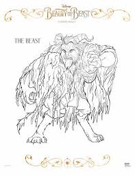 free beauty and the beast coloring pages free beauty and the