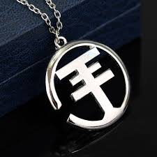 silver rock necklace images Mqchun new fashion vintage silver plated rock band tokio hotel jpg