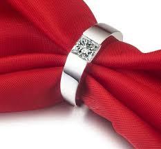 Anniversary Gifts For Men Engagement - 1ct princess cut 18k white gold simulate diamond engagement men