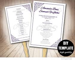 Fan Wedding Programs Template 291 Best Wedding Templates Diy Weddings Images On Pinterest