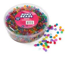 kids craft plastic pony beads translucent walmart com