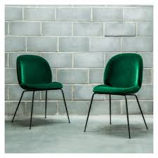 dining chairs ergonomic green velvet dining chairs beetle dining