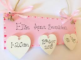baby plaques personalized best 25 personalised baby girl gifts ideas on