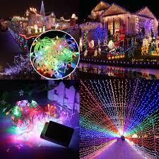 multi color 20m 200 led christmas xmas fairy string lights decor