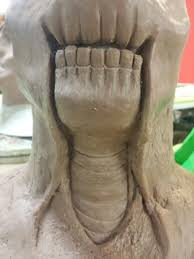 makeup school in florida this was the finish of the teeth and neck of my sculpt for