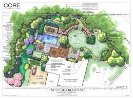 unique landscape design plans backyard siteplan square circular