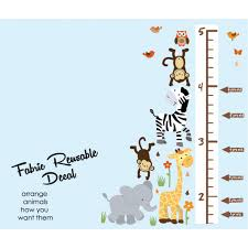 Animal Wall Decals For Nursery by Zoo Wall Stickers With Wall Growth Charts For Children