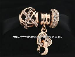 gold plated sterling silver bracelet images 2018 925 sterling silver charms and rose gold plated bead set with jpg
