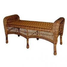 Cushions For Wicker Settee Bench All Weather Wicker Bench Dark Brown Wicker Outdoor Patio