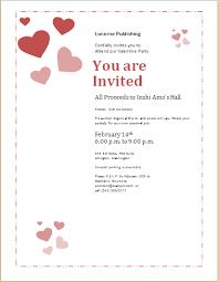 valentine u0027s day celebration invitation template for word