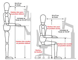 hauteur bureau ergonomie notre l ergonomie au travail mobilier raimondi
