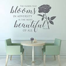 girls bedroom wall decals amazon com disney quotes wall decals flower blooms in adversity