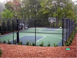 Backyard Basketball Half Court Backyard Basketball Court Landscape Traditional With Backyard