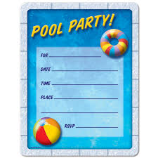 pool party invitations free printable birthdaydirect compool