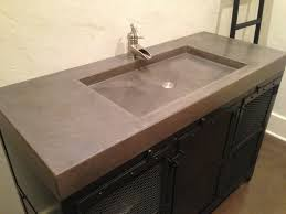 Bathroom Vanity Counters Concrete Bathroom Vanity Pertaining To Countertops