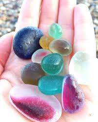 english seaglass beauties picked on seaham beach sea glass