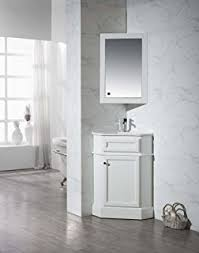 Corner Vanity Cabinet Bathroom Antique White Bay View Corner Bathroom Sink Vanity Model Bc030w Aw