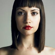hairstyles for straight across bangs the classic bob with bangs