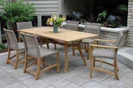 Teak Wood Patio Furniture Set - furniture smith and hawken avignon teak collection used patio