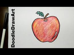 drawing how to draw cartoon apple step by step easy drawing