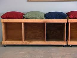 Storage Bench Seat Build by How To Build A Rolling Storage Bench Hgtv
