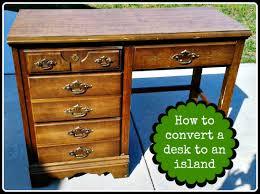 kitchen alluring diy kitchen island from desk convert to diy