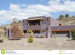 Arizona House by Usa Arizona New Adobe House In A Desert Stock Photo Image