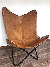 amazon com brown leather arm chair butterfly leather butterfly