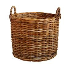 Cane Laundry Hamper by Wicker Baskets Made From Willow Seagrass Rattan Hyacinth Soft Rush