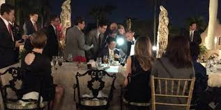 is trump at mar a lago trump briefed on north korea as mar a lago guests waiters looked on