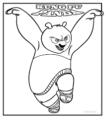 kung fu panda coloring pages chuckbutt com
