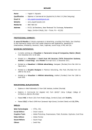 Currently Working Resume Format Ui Developer Resume Resume Templates