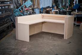 Plywood Reception Desk Custom Office Furniture Portland Adbusch Llc