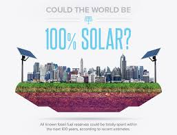 how to go solar infographic could the entire world really run on solar power