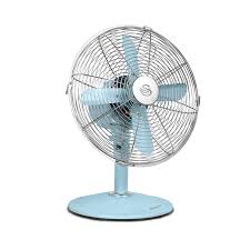 12 inch 3 speed oscillating fan swan sfa1010bln vintage desk fan 12 inch blue amazon co uk