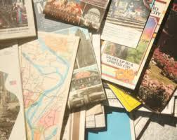 paper maps vintage road maps etsy