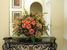 dining room table flower arrangements silk flower centerpiece for dining room table light of
