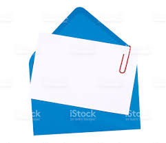 Blank Invitation Cards And Envelopes Blank Birthday Invitation Card With Blue Envelope Stock Photo