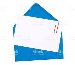 Invitation Blank Card Stock Blank Birthday Invitation Card With Blue Envelope Stock Photo